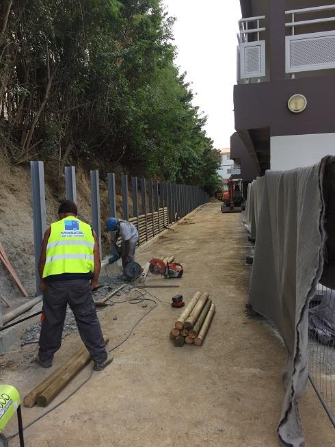 Moducal Références en Nouvelle Calédonie # Mur Soutenement Rondin Bois